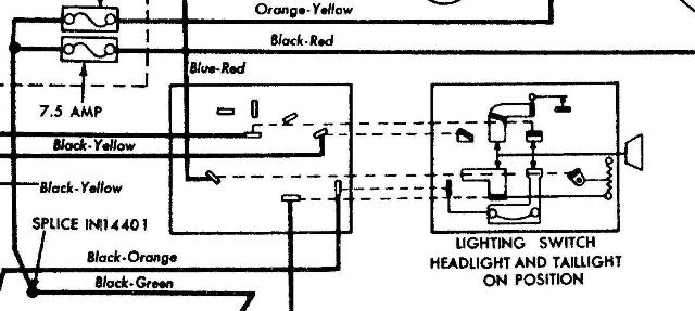 ford f100 headlight switch wiring
