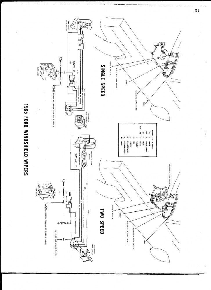wiper motor wiring diagram ford galaxie