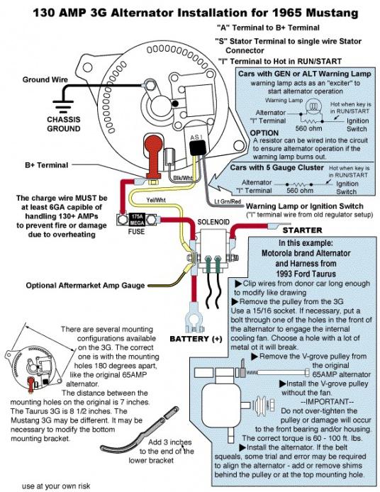 3g alternator wiring diagram