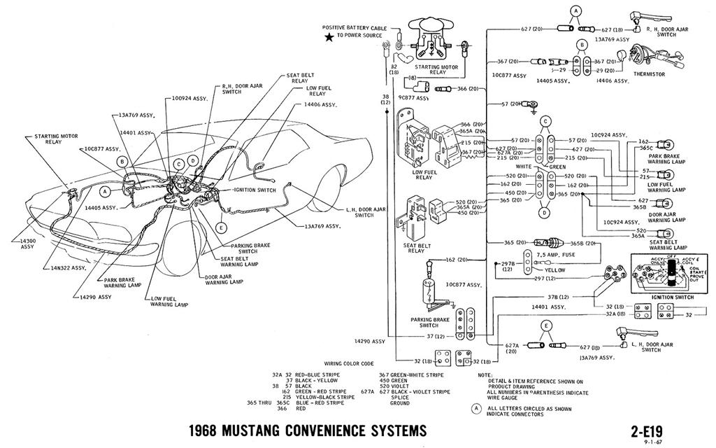 1967 ford mustang wire harness diagram