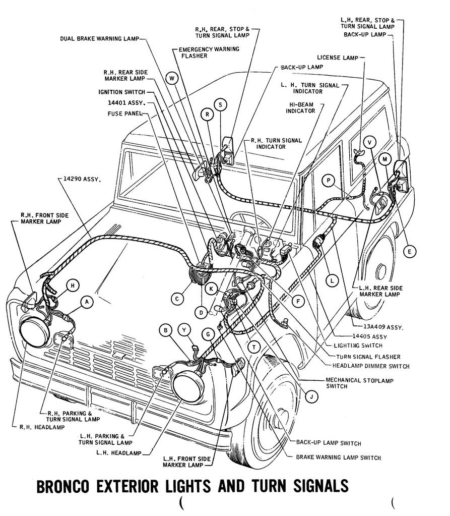 ron francis wiring harness for early bronco
