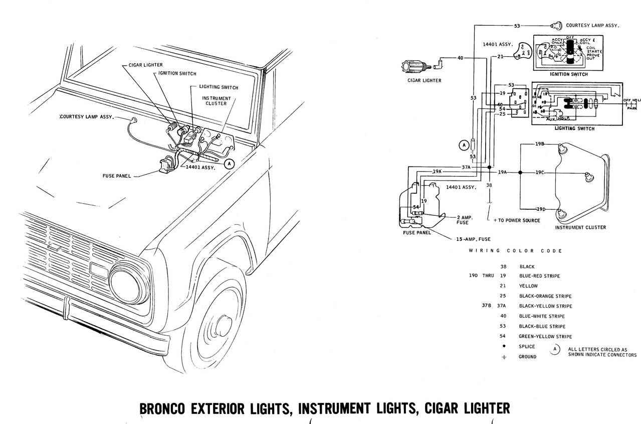 wiring diagram for 1971 ford bronco