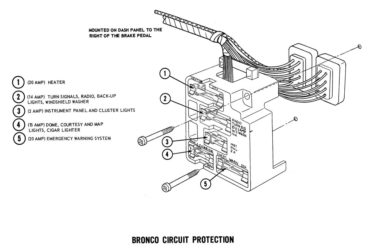 1971 ford bronco wiring diagram