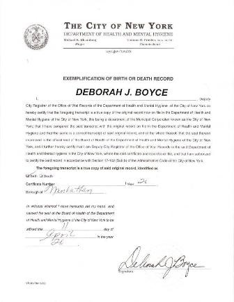 Letter of Exemplification do you need it to get a New York apostille?