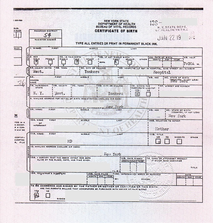 Apostilles and legalization for NYS birth certificates - birth certificate