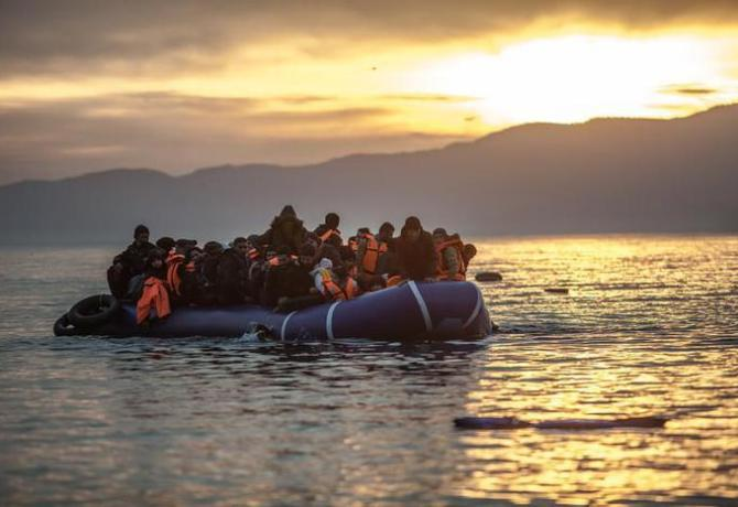 Migranti a Lesbo, Grecia, 29 aprile 2016. ANSA/UFFICIO STAMPA OXFAM/PABLO TOSCO