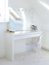 Makeup Storage Ideas | Ikea Malm makeup vanity with mirror
