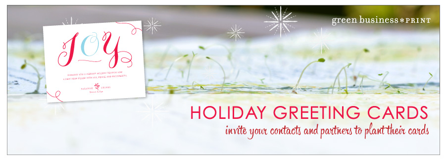 Seeded Business Christmas Cards and Plantable Corporate Holiday