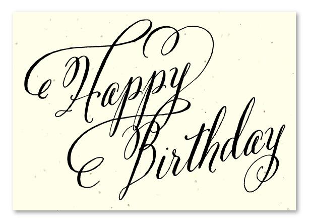 Elegant Birthday cards on seeded paper ~ Beginnings by Green