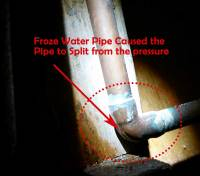 Rebuilding After Water Damage from Frozen Water Pipes ...