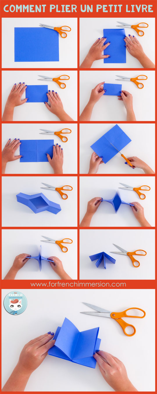 Comment plier un mini livre. French Verbs Mini-book: a one-cut foldable mini-book for your students to have the most important French verbs at hand. Post includes free printable :)
