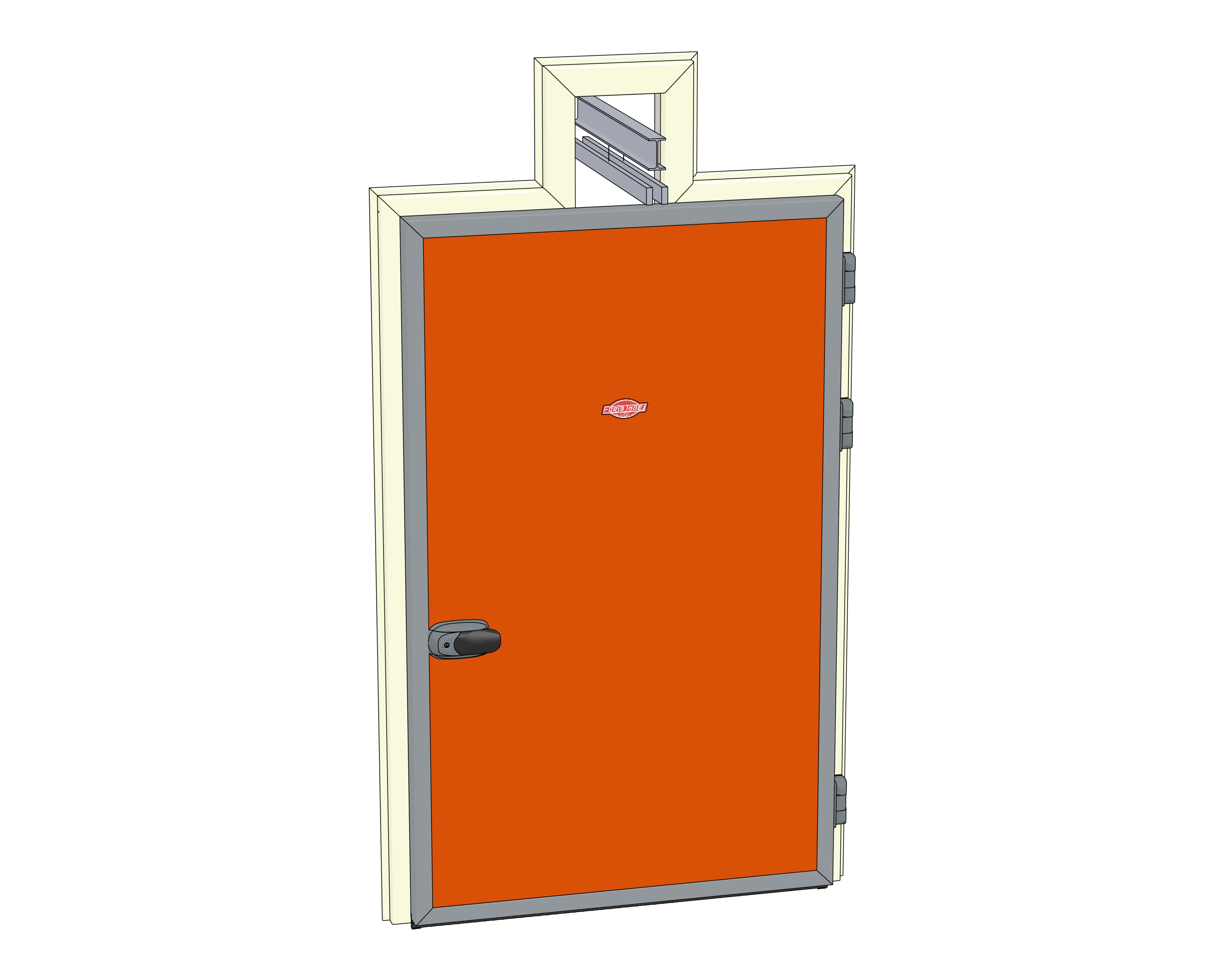 Cold Storage Doors Standard Handle Overhead Rail