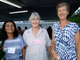 L-R: Auction volunteers Sylvia Smith and Carol Volker; Janet Killermann