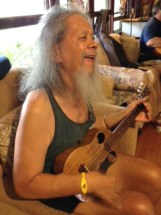 Nathan Kalama rehearses his song.