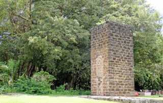 The smokestack in Old Koloa Town, from the second mill built for Koloa Plantation back in 1841. Photo by Léo Azambuja