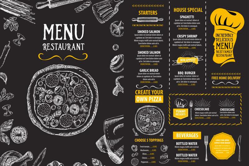 How to Design a Menu for a Restaurant Forketers - how to make a restaurant menu on microsoft word