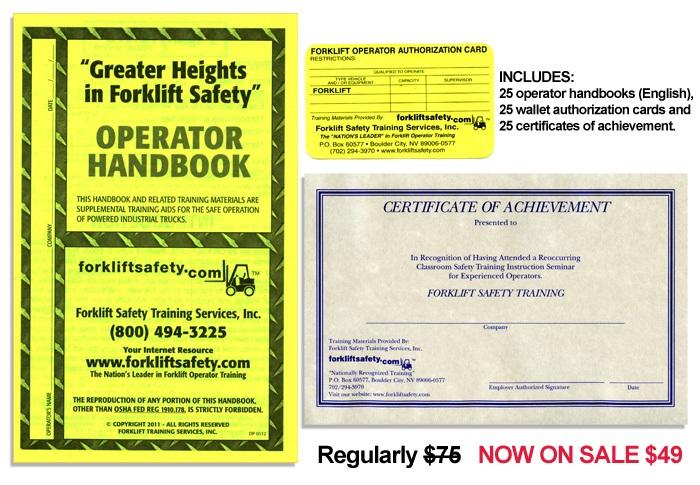 Forklift Safety Training Handbooks Additional (English)
