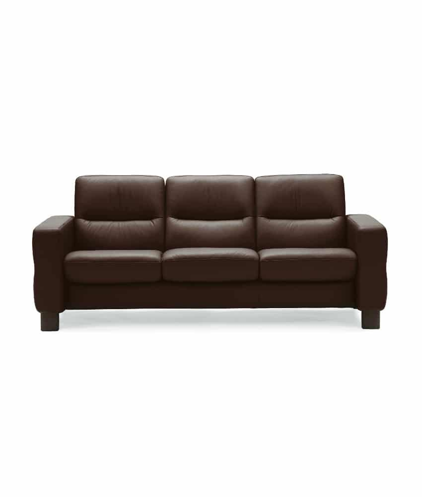 ekornes stressless wave high back sofa