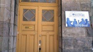 Entrée du Centre de formation sociale Marie-Gérin-Lajoie