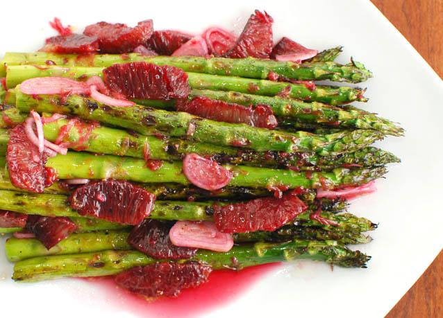Grilled Asparagus and Blood Orange Vinaigrette