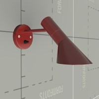 Arne Jacobsen Wall Lamp 3D Model - FormFonts 3D Models ...