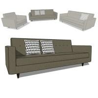 bantam sofas 3D Model - FormFonts 3D Models & Textures