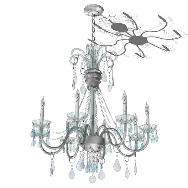 wiring chandelier arms