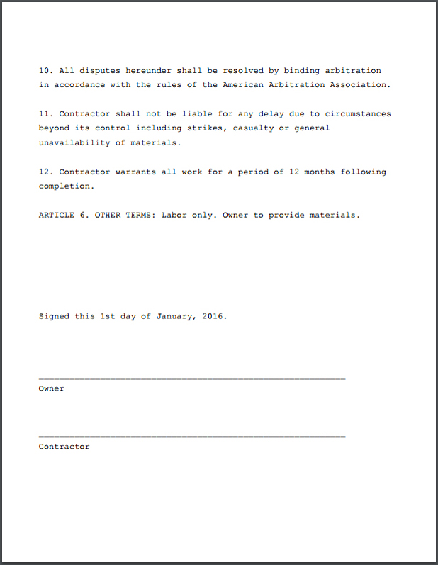 Construction Contractor Agreement - Formidable PRO2PDF
