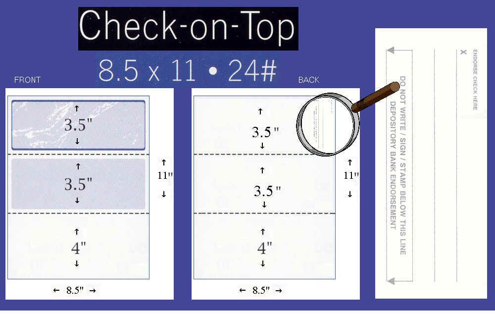 Blank Check Stock Voucher Business Laser Paper - FormsAndChecks