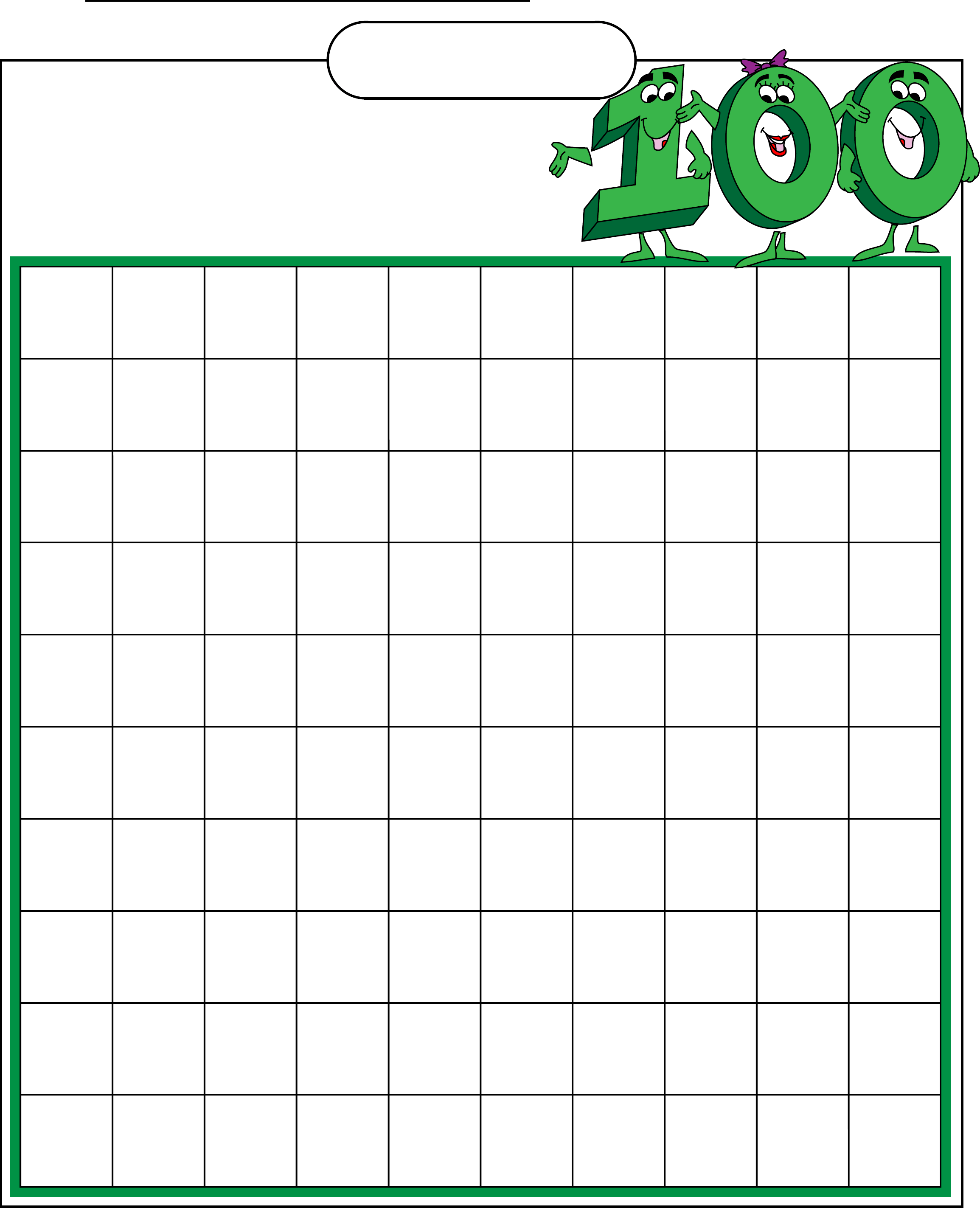 ... template 781 free samples examples format blank hundred filling chart