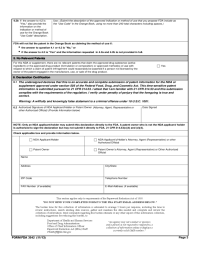 Form FDA 3542 - Patent Information Submitted upon/after ...