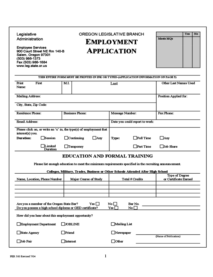 sample of application form template best online employment