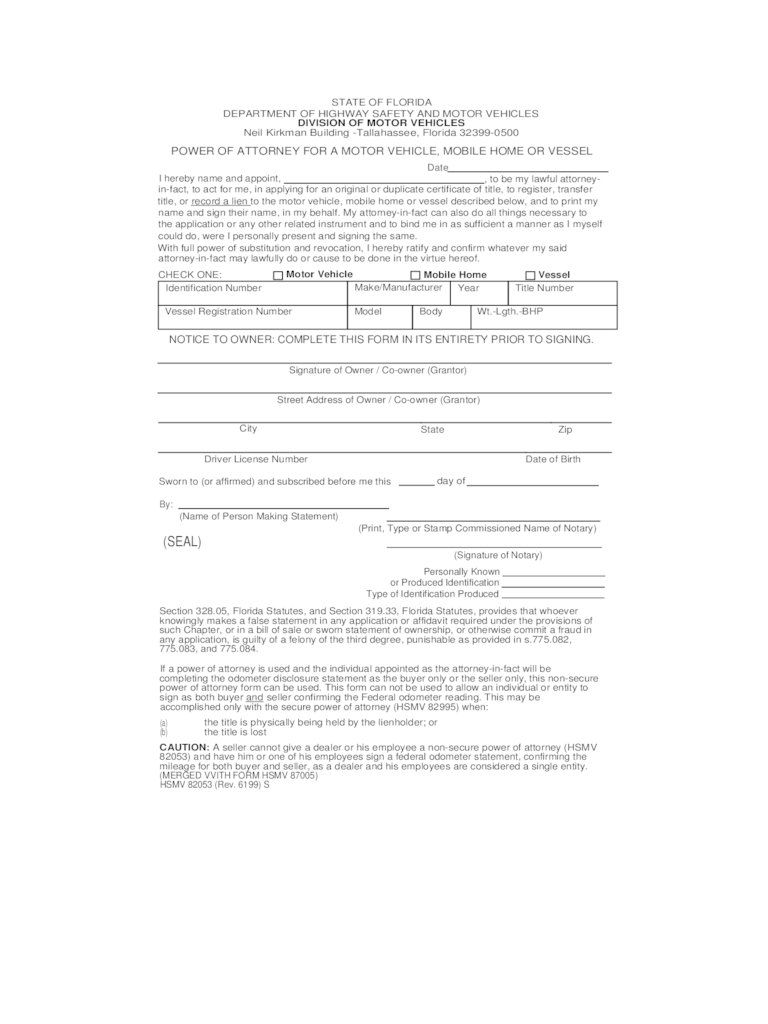 power of attorney form templates