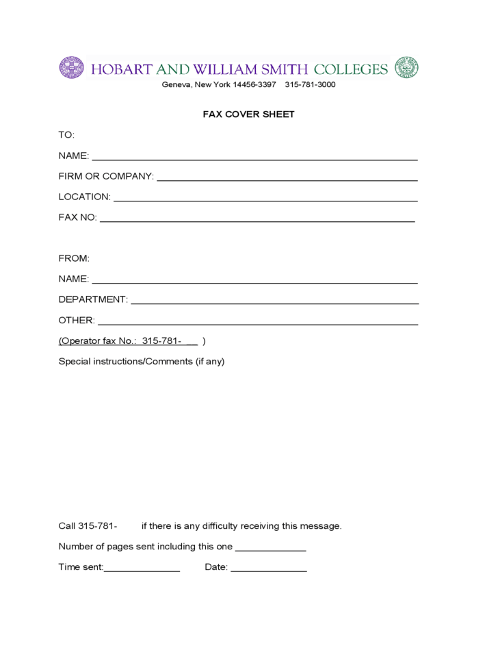 free fax cover sheet no download