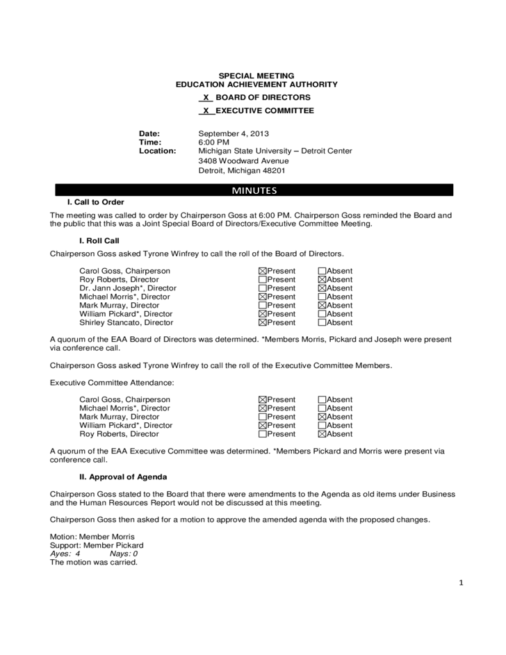 3 board meeting minutes template