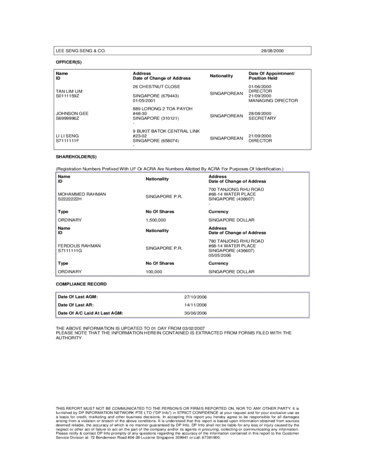 Sample Electrical Company Profile Format – Sample of a Company Profile Format