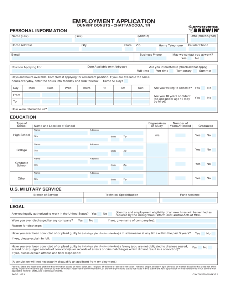 """Subway Application Online Job Employment Form Search Results For """"free Restaurant Application For"""