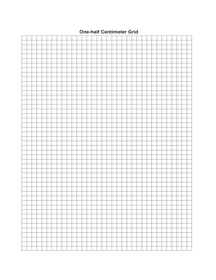 one centimeter graph paper