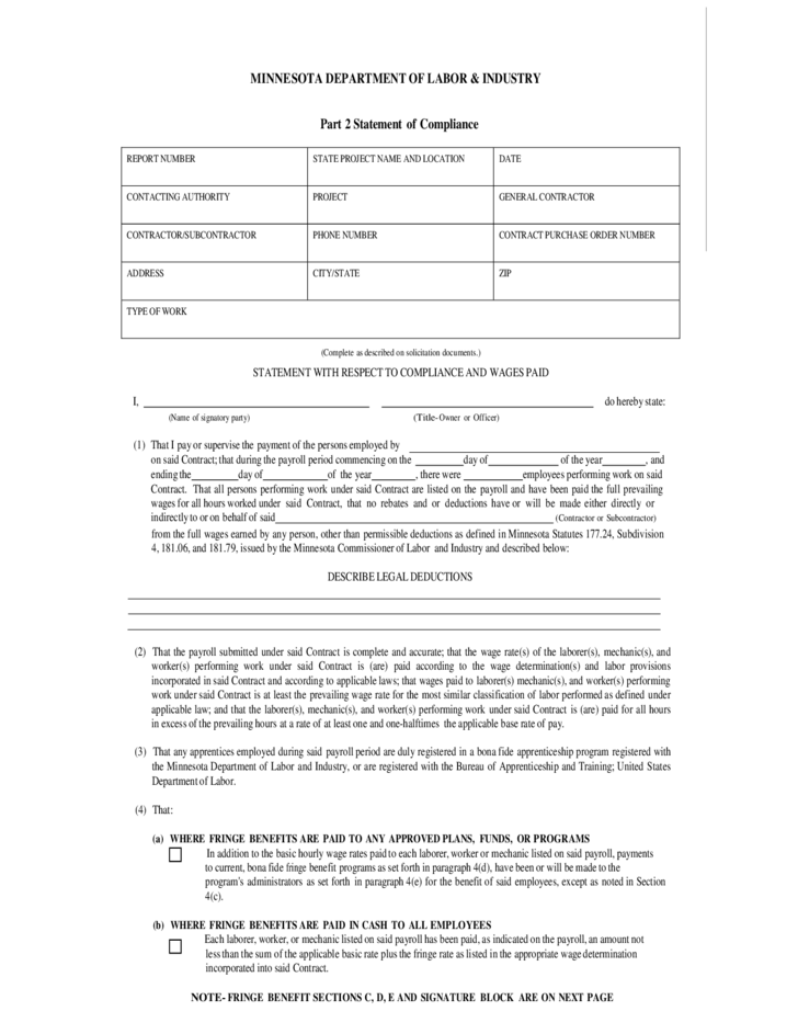 Department Labor Certified Payroll Form | Resume And Cover Letter ...