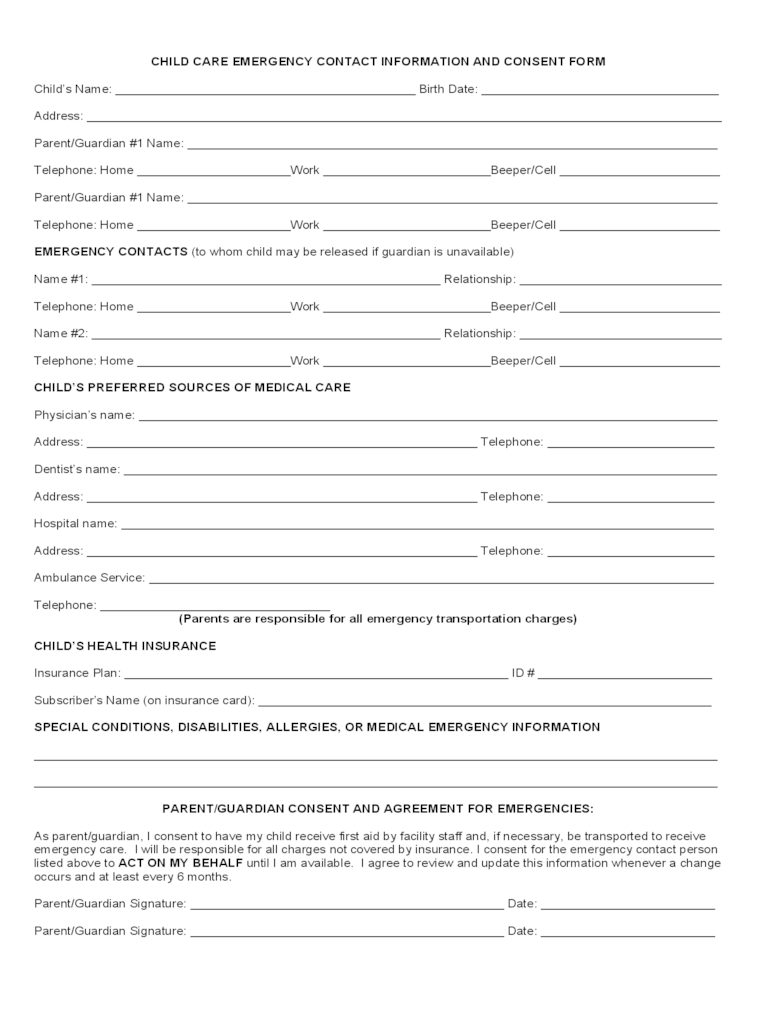 employee emergency contact form pdf