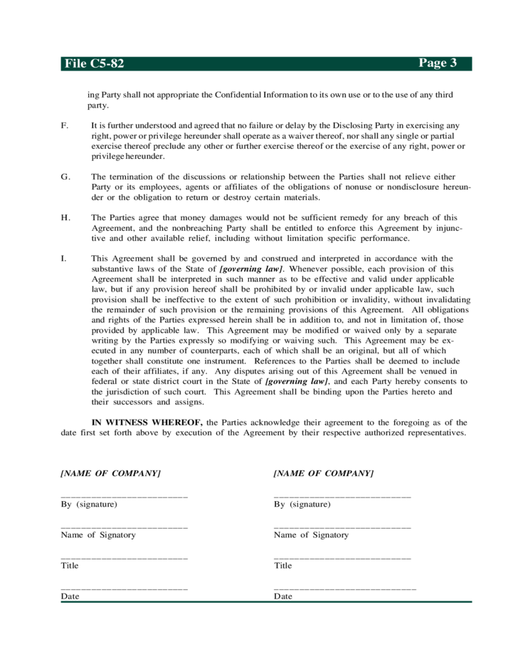Beautiful Confidentiality Agreement Consideration Standard Confidentiality Agreement  Ipwatchdog Sample Mutual Confidentiality Agreement Free Download Great Pictures