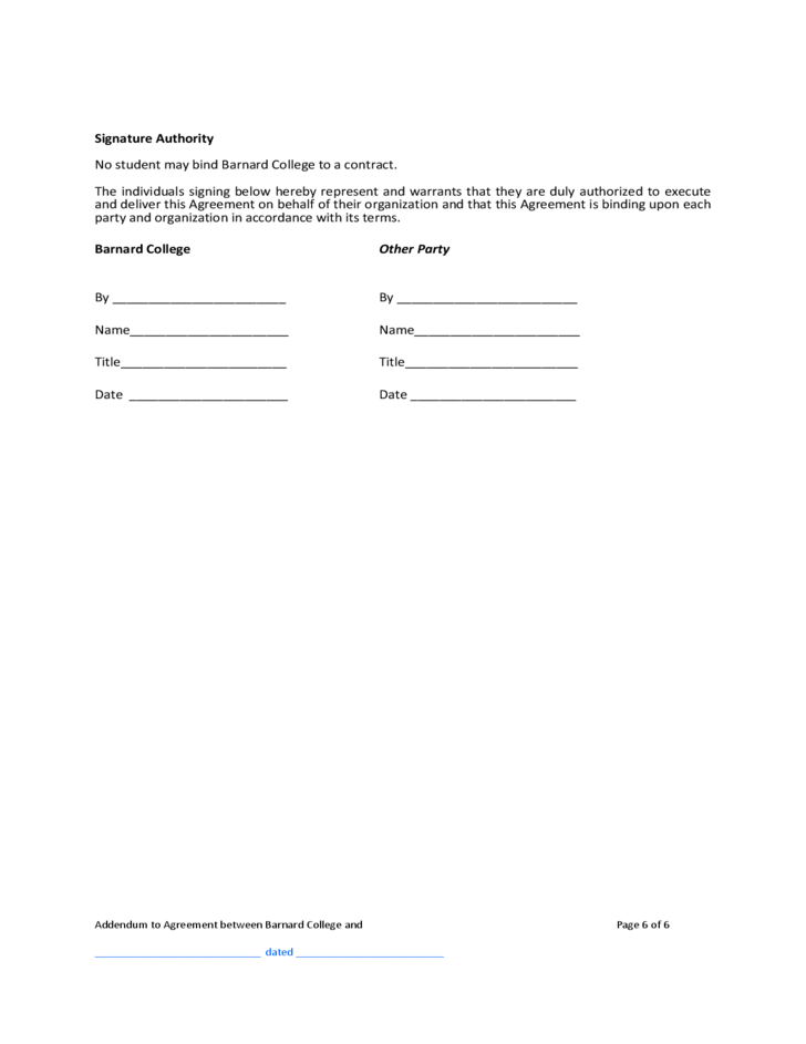 addendum to resume template