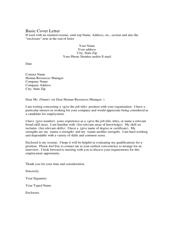 Free Cover Letter Template Free Premium Templates Basic Cover Letter For Jobs Free Download