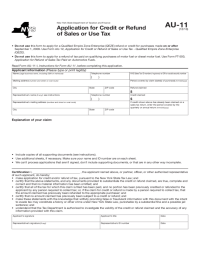 Application for Credit or Refund of Sales or Use Tax - New ...