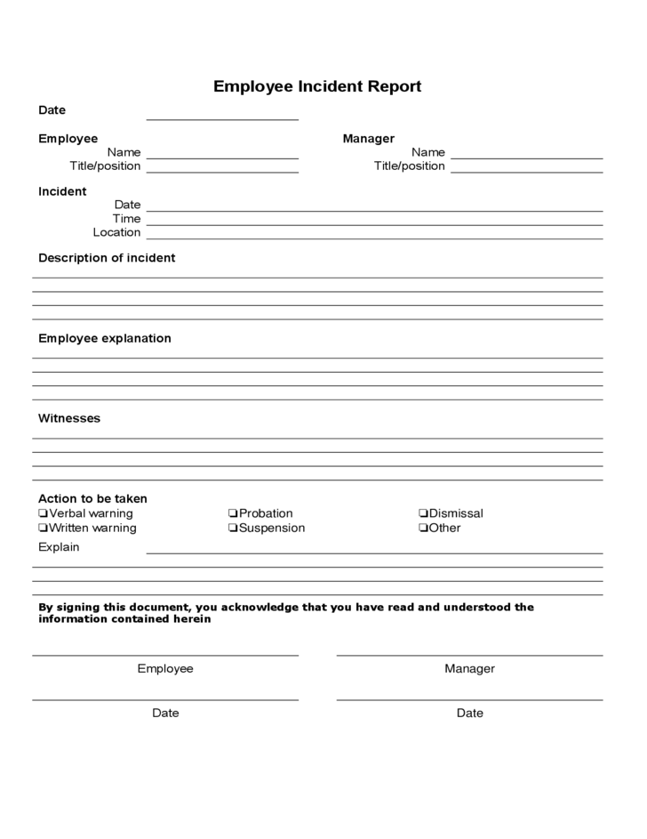Doc.#11961548: Free Accident Report Form Template – Doc585650 Free ...