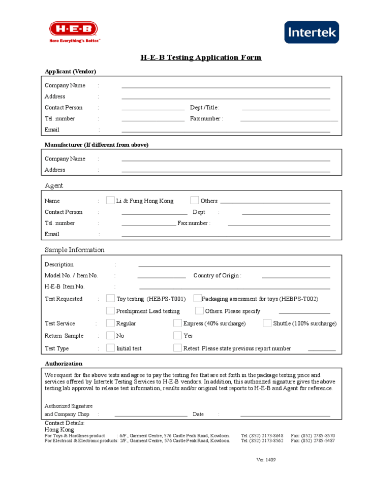 Employment Application Form New Hong Kong Airlines H E B Testing Application Form Free Download