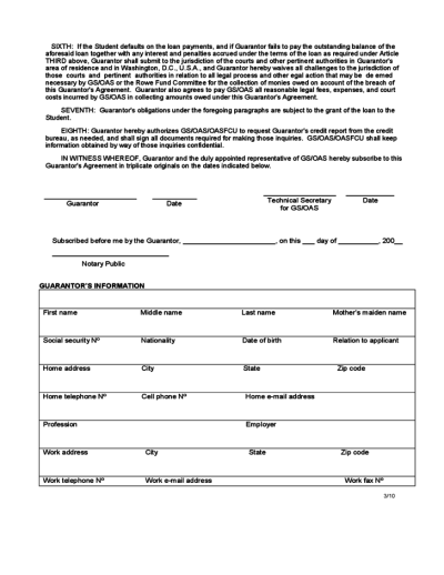 Guarantor Agreement - United States Free Download