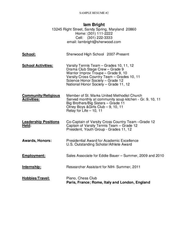 resume sample high school sample objectives resume for high school graduate resume high school graduate template