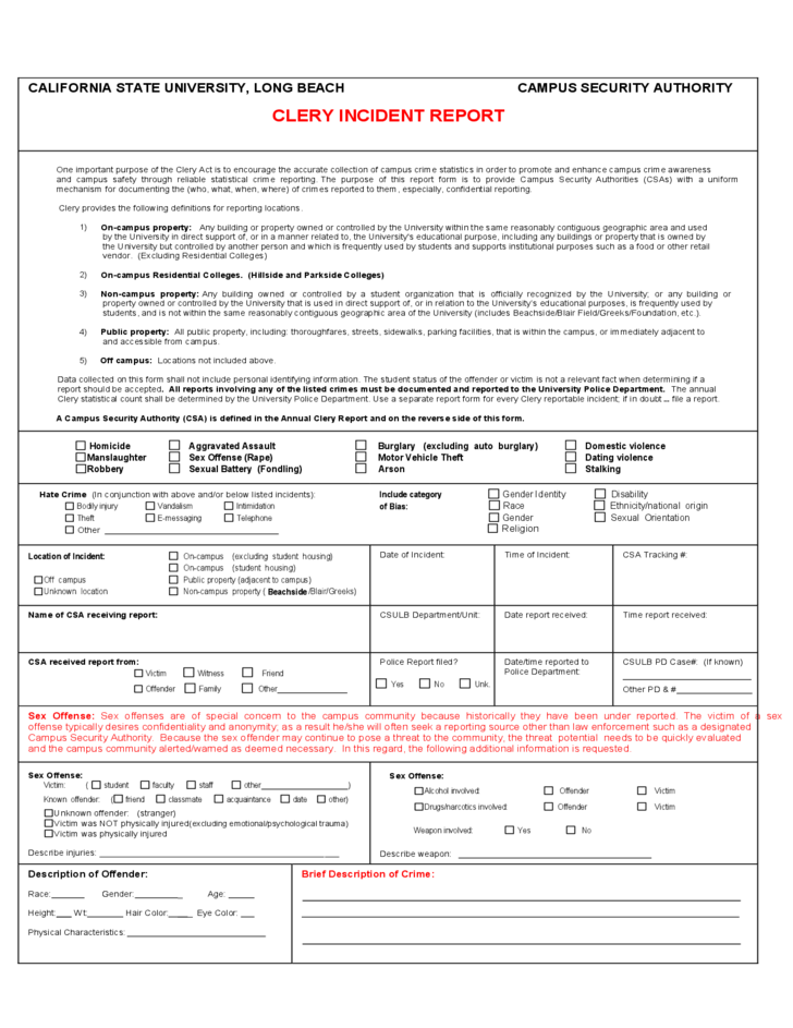 forms incident report