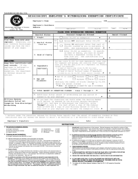 Employee's Withholding Exemption Certificate